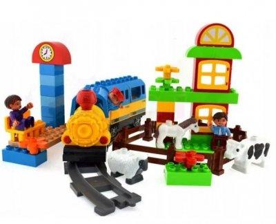 """Конструктор железная дорога 6188С """"Волшебное путешествие"""". Cвет, звук, 60 деталей"""