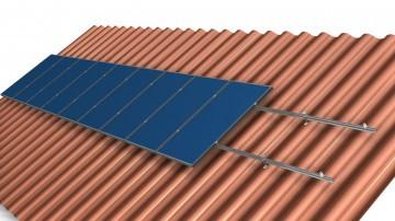 Кріплення сонячних батарей для похилого даху (оцинкована сталь)