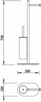 Гарнітур для туалету DEVIT ART 3565140B