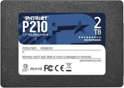 "Накопичувач SSD 2TB Patriot P210 2.5"" SATAIII TLC (P210S2TB25)"