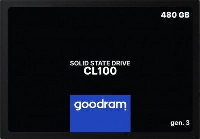 Накопичувач SSD 480Gb Goodram CL100 (Gen.3), SATA3 (SSDPR-CL100-480-G3)