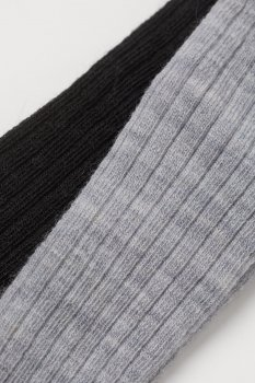 Колготки (2шт) H&M 50 56см чорно сірий 27048685782
