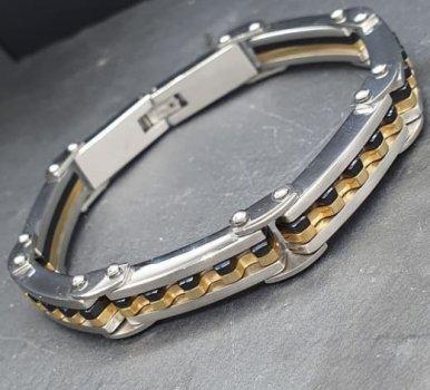 """Браслет мужской Steel Evolution """"Vidar"""" из комбинированной медицинской стали BS 667"""