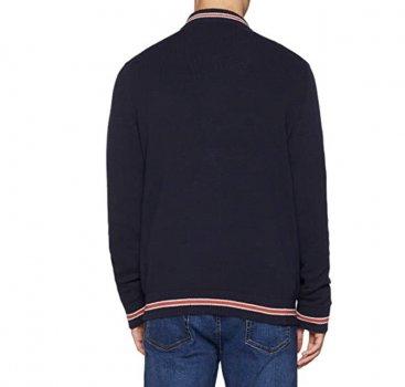 Чоловічий светр на блискавці Nautica синій р. XL