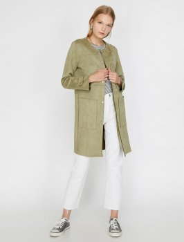 Пальто Koton 0KAK05454OK-834 Olive
