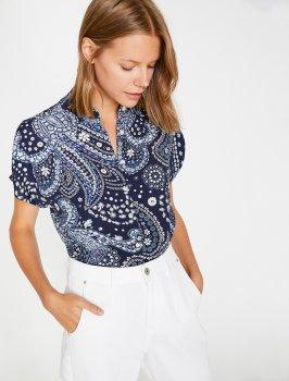 Блузка Koton 0KAK68751PW-B33 Blue Design