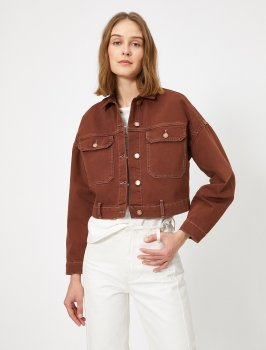 Джинсовая куртка Koton 0YAK57089MD-TRC Mustard