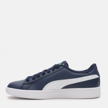 Кеды кожаные Puma Smash v2 L Jr 36517027 Peacoat-Puma White