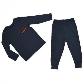 Пижама для мальчика (1 шт) George темно-синяя с манжетами и карманом 249