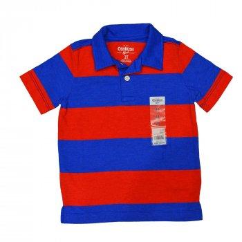 Поло для мальчика ( 1 шт.) OshKosh красно-синее с воротником на пуговицах 58