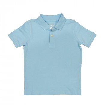 Поло для мальчика ( 1 шт.) OshKosh светло-голубое с воротничком и на пуговицах 57