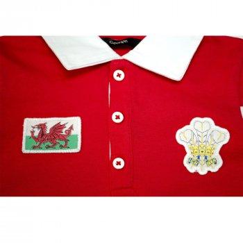 Поло для мальчика ( 1 шт.) George красная с эмблемами с воротничком на пуговицах 929