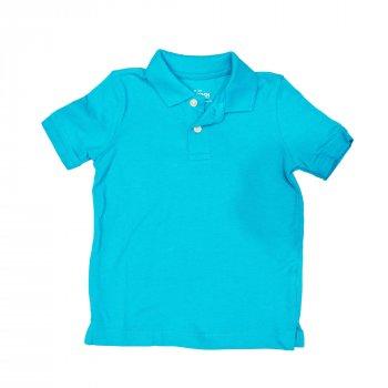 Поло для мальчика ( 1 шт.) OshKosh ярко-голубое с воротником на пуговицах 61