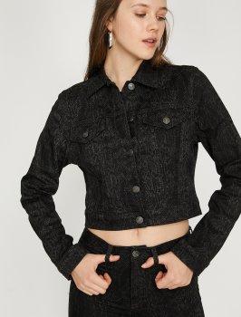 Джинсовая куртка Koton 9YAK57011MD-BA5 Black