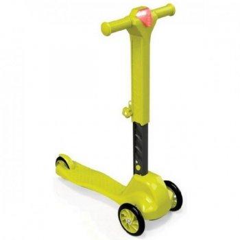 Самокат 3-колісний Doloni жовтий, пластиковий 0153