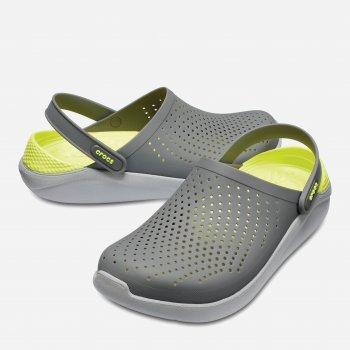 Сабо Crocs Women's LiteRide Clog 204592-0DV Серые с зеленым