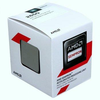 Процессор AM1 AMD Sempron 2650 (SD2650JAHMBOX) 1.45GHz 2яд. 2пот. L1 128KB L2 1MB DDR3 1333 Radeon R3 400MHz 25W BOX новый