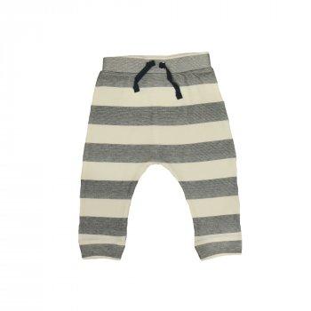Брюки для мальчика ( 1 шт ) Carter's серые полосатые штанишки на резинке и манжетах 9-12М 11кг 366