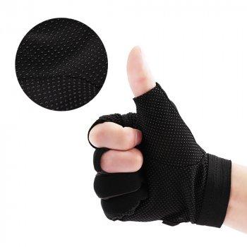 Перчатки da de hua антискользящие для рыбалки и спорта серые с черным