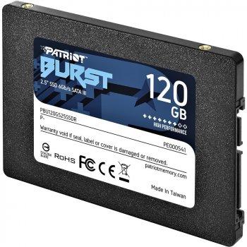 "Накопичувач SSD Patriot Burst 120GB 2.5"" SATAIII TLC 3D (PBU120GS25SSDR)"