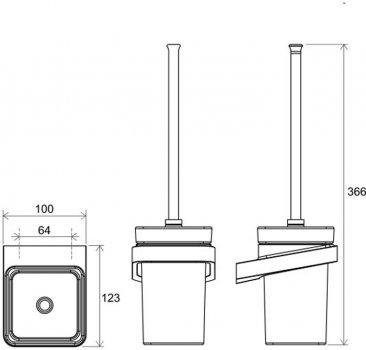 Ёршик для унитаза RAVAK 10° TD 410 X07P330