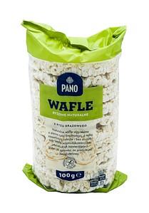 Рисовые хлебцы без глютена Pano Wafle ryzowe naturalne 100г