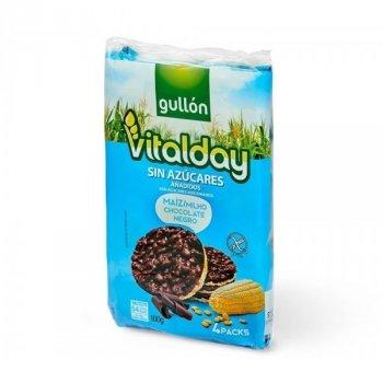Хлебцы без сахара и глютена с кукурузой и шоколадом Vitalday Gullon 100г ( (4х25г)