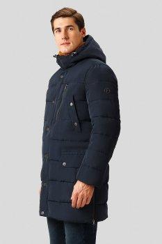 Зимняя удлиненная мужская куртка Finn Flare W18-21004-101 Темно-синяя