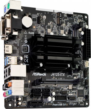 Материнська плата ASRock J4125-ITX (Intel Celeron J4125, SoC, PCI-Ex16)
