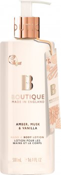 Лосьйон для рук і тіла Grace Cole Hand & Body Lotion Boutique Amber Musk & Vanilla 500 мл (5055443679752)