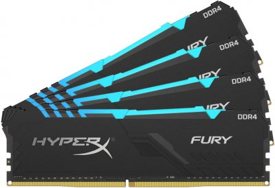 Оперативная память HyperX DDR4-3200 65536MB PC4-25600 (Kit of 4x16384) Fury RGB (HX432C16FB4AK4/64)
