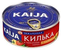 Килька Kaija обжаренная в томатном соусе с паприкой 240 г (4751007736107)