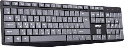 Клавиатура проводная Ergo K-210 USB Black/Grey