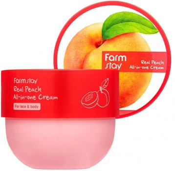 Питательный крем для лица и тела Farmstay Real Peach All-In-One Cream с экстрактом персика 300 мл (8809638301006)