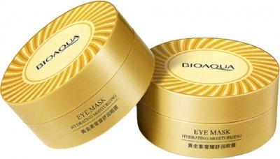 Гідрогелеві патчі зволожувальні для очей Bioaqua з іонами золота та морськими водоростями 60 шт. (BQY45015) (6941349345015)