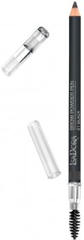 Олівець для брів Isadora Eyebrow pencil-with brush №01 black powder pen 1.1 г (7317851237015)