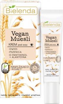 Крем для кожи вокруг глаз Bielenda Vegan Muesli Увлажняющий Пшеница + овес + D-пантенол + алантоин 15 мл (5902169037840)