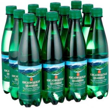 Упаковка минеральной воды Нарсан Кисловодская целебная газированная 0.5 л х 12 бутылок (4601320000105)