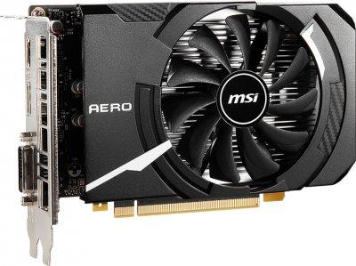 MSI PCI-Ex GeForce GTX 1650 D6 Aero ITX OCV1 4GB GDDR6 (128bit) (1620/12000) (DVI-D, HDMI, DisplayPort) (GTX 1650 D6 AERO ITX OCV1)