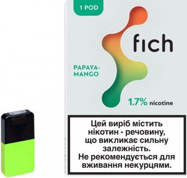 Картридж для POD-систем Fich Pods Papaya-Mango 1.7% 18.87 мг 0.8 мл (Папая + Манго) (6971575731696)