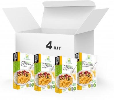 Упаковка Крупа кукурузная шлифованная Терра №3 быстрого приготовления 4 x 0.4 кг в варочном пакете (4820015739445)