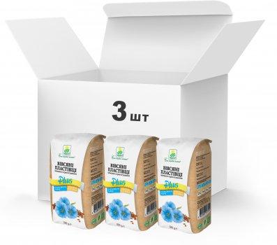Набір Терра №16 Пластівці вівсяні швидкого приготування + клітковина льону та вівсяні висівки 500 г x 3 шт. (4820015738981)