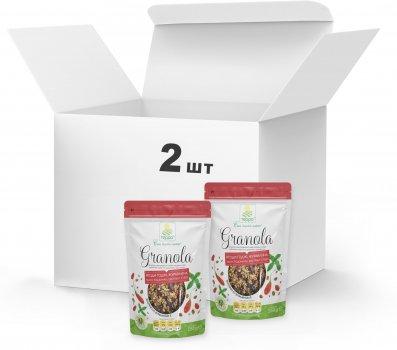 Набір Гранола Терра №6 з екстрактом стевії, ягодами годжі, насінням льону та цукатами журавлини 2 x 250 г (4820015738820)