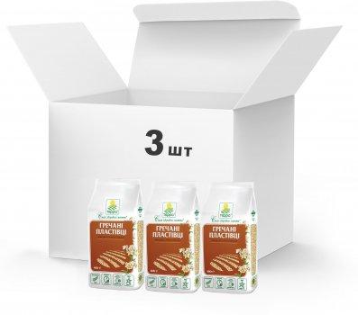 Упаковка Пластівці гречані Терра швидкого приготування 3 x 0.4 кг (4820015739421)