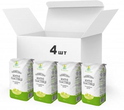 Упаковка Пластівці житні різані Терра швидкого приготування 4 x 0.5 кг (4820015739339)