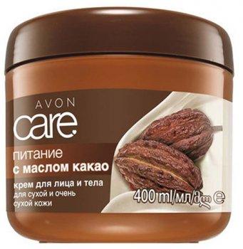 Крем для обличчя і тіла з олією какао Avon Живлення 400 мл (10833) (ROZ6400103356)