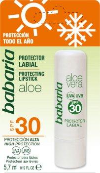 Защитный бальзам для губ Babaria с Алоэ Вера SPF 30 5.7 мл (724928) (8410412507059)