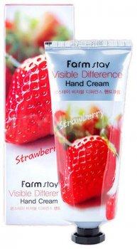 Крем для рук FarmStay Visible Difference Hand Cream Strawberry с клубникой 100 г (8809636280464)