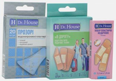 Набор пластырей H Dr. House Прозрачные №20 + В дорогу №15 + Нетканый №10 (4823905173039)