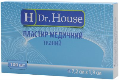 Пластырь медицинский тканевый H Dr. House 7.2 см х 1.9 см (5060384392134)